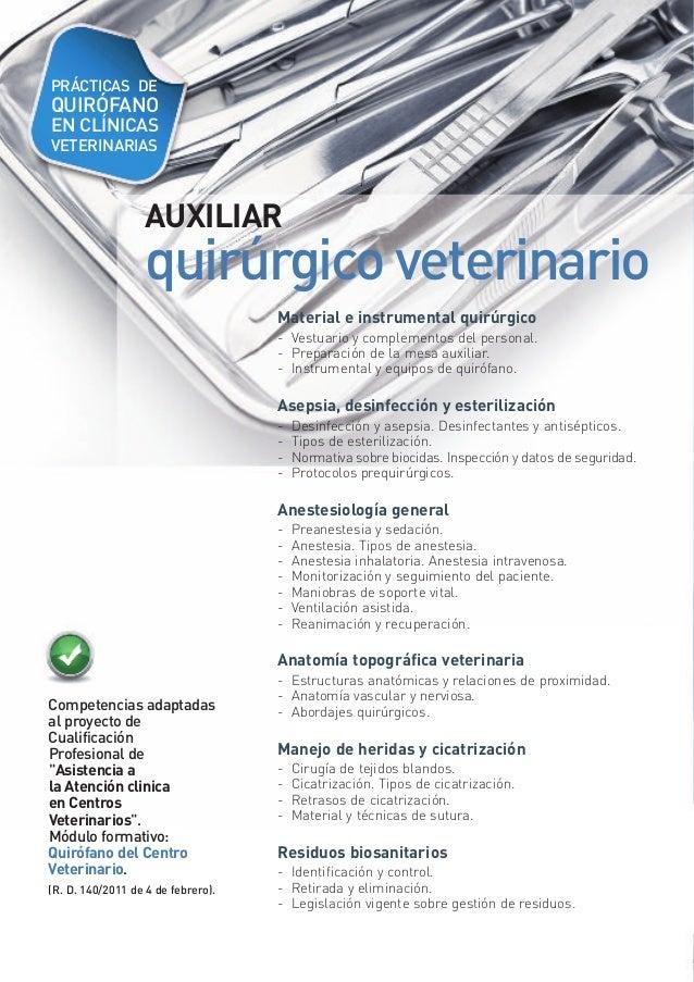 Cursos veterinaria 2013 14 cim formaci n barcelona for Mesa quirofano veterinaria