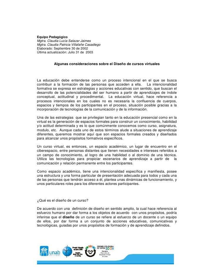 Equipo Pedagógico Mgtra. Claudia Lucía Salazar Jaimes Mgtra. Claudia Patricia Villafañe Casadiego Elaborado: Septiembre 30...
