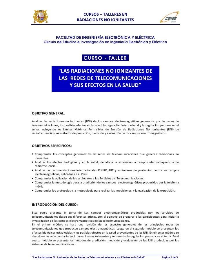 Curso taller de rni   electrónica y telecomunicaciones