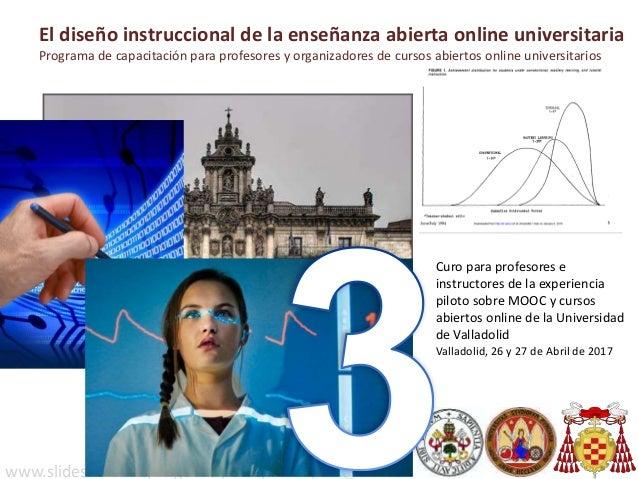 Curo para profesores e instructores de la experiencia piloto sobre MOOC y cursos abiertos online de la Universidad de Vall...