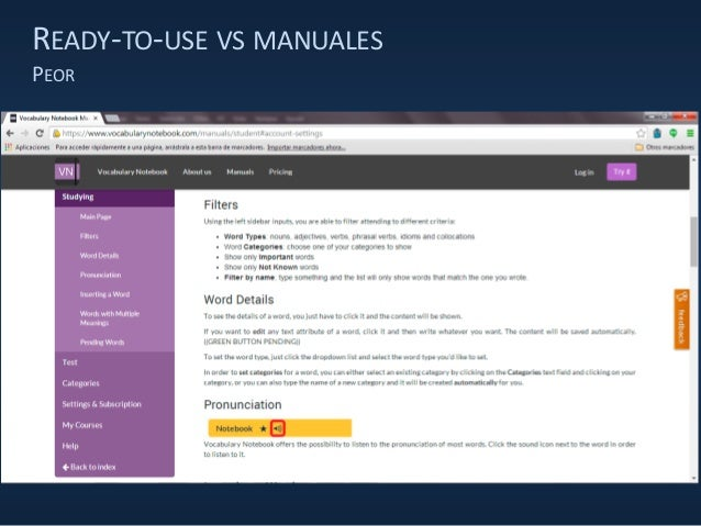 READY-TO-USE VS MANUALES PEOR