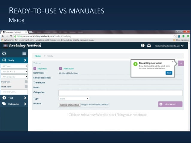 READY-TO-USE VS MANUALES MEJOR