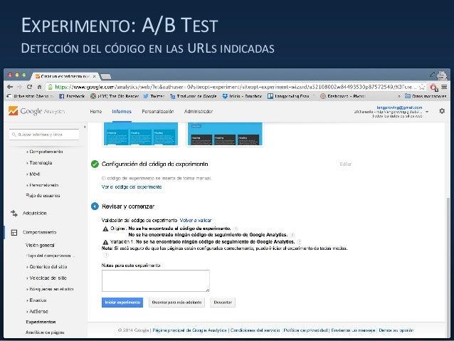 EXPERIMENTO: A/B TEST DETECCIÓN DEL CÓDIGO EN LAS URLS INDICADAS