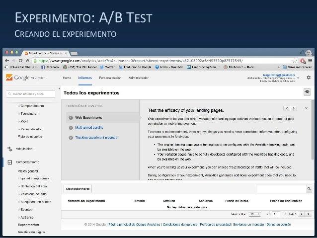EXPERIMENTO: A/B TEST CREANDO EL EXPERIEMENTO