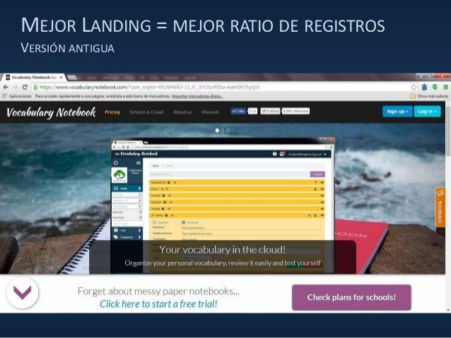 MEJOR LANDING = MEJOR RATIO DE REGISTROS VERSIÓN ANTIGUA