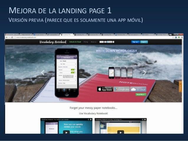 MEJORA DE LA LANDING PAGE 1 VERSIÓN PREVIA (PARECE QUE ES SOLAMENTE UNA APP MÓVIL)