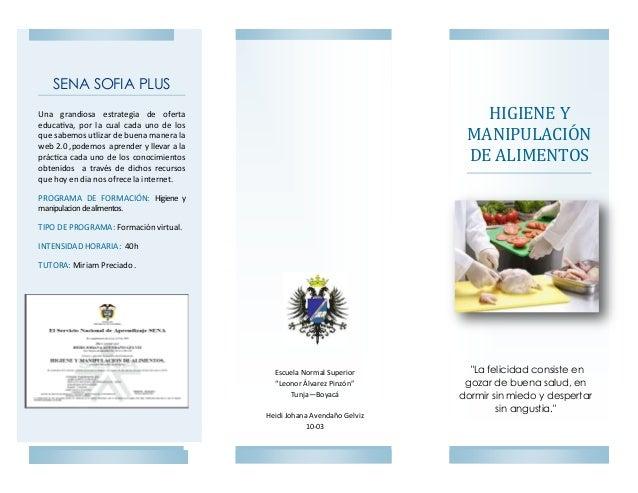 Curso virtual higiene y manipulaci n de alimentos for Higiene y manipulacion de alimentos pdf