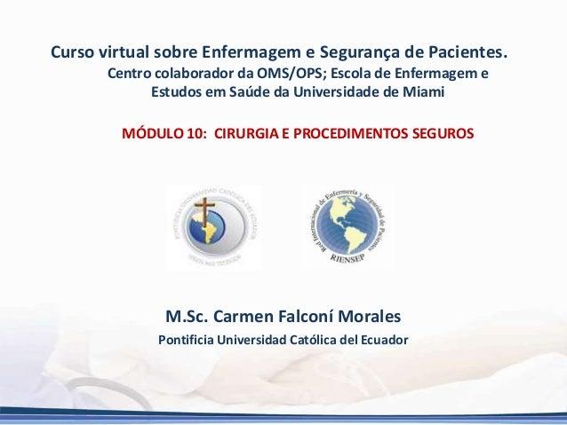 Curso virtual sobre Enfermagem e Segurança de Pacientes. Centro colaborador da OMS/OPS; Escola de Enfermagem e Estudos em ...