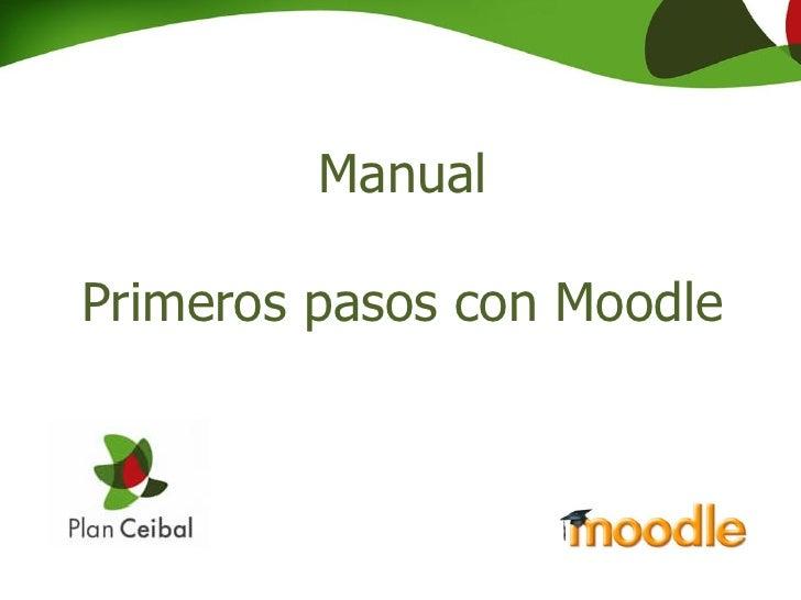 ManualPrimeros pasos con Moodle
