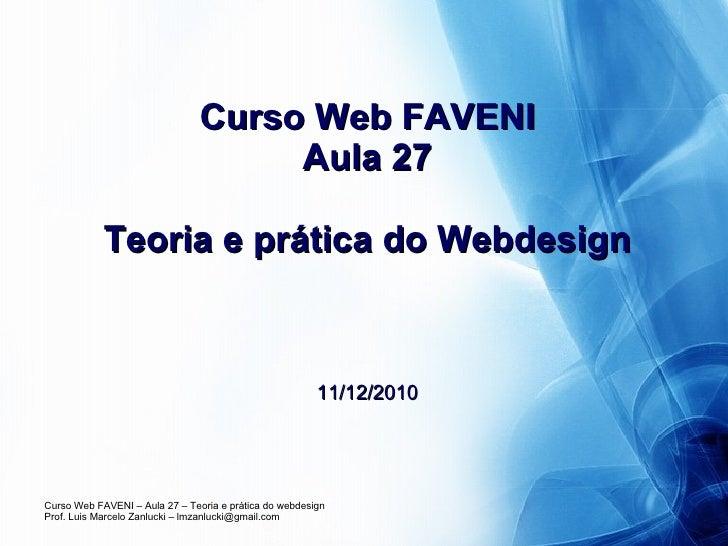 Curso Web FAVENI Aula 27 Teoria e prática do Webdesign 11/12/2010