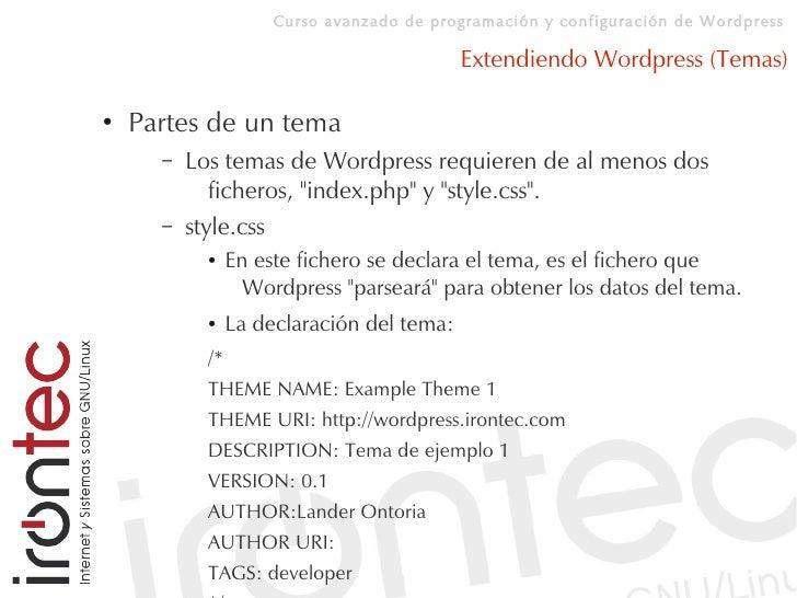 Curso avanzado de programación y configuración de Wordpress