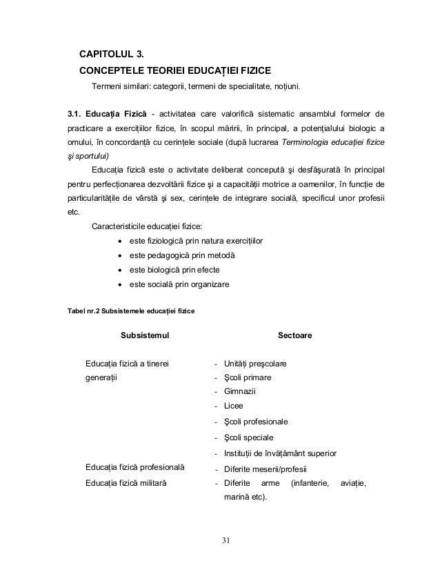 31 CAPITOLUL 3. CONCEPTELE TEORIEI EDUCAłIEI FIZICE Termeni similari: categorii, termeni de specialitate, noŃiuni. 3.1. Ed...