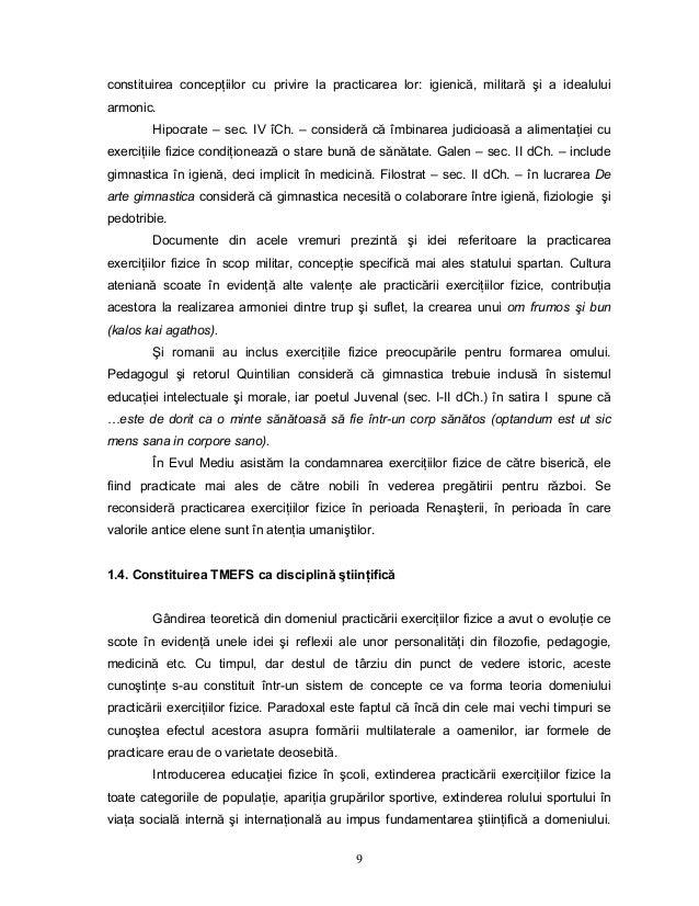9 constituirea concepŃiilor cu privire la practicarea lor: igienică, militară şi a idealului armonic. Hipocrate – sec. IV ...