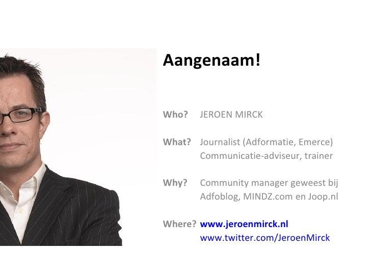 Community Management, een kennismaking Slide 2