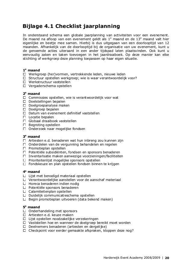 plan van aanpak evenement Cursusmap harderwijk event academy plan van aanpak evenement