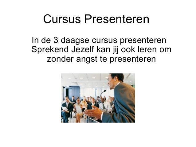 cursus presentatie angst