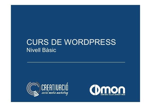 CURS DE WORDPRESS Nivell Bàsic