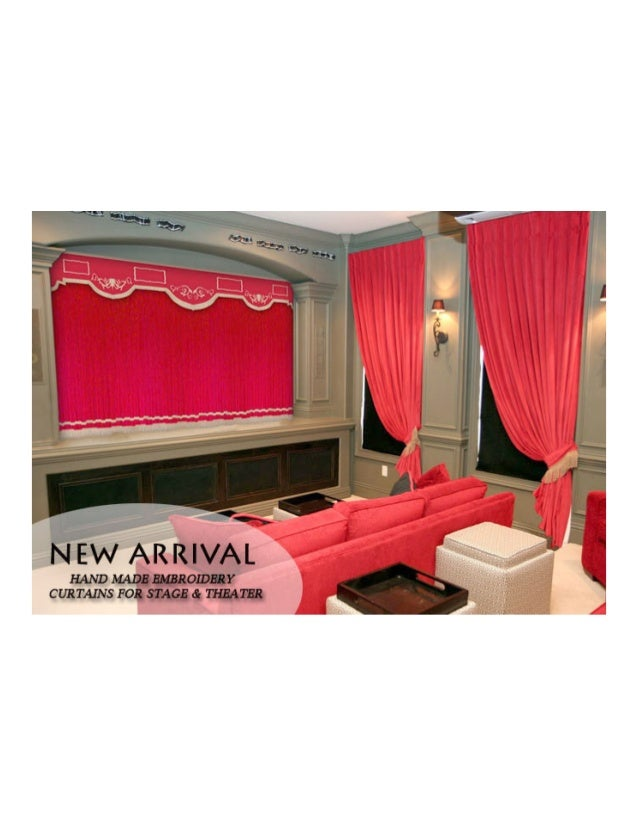 Velvet Curtains For Church, Home Theater, School Stage