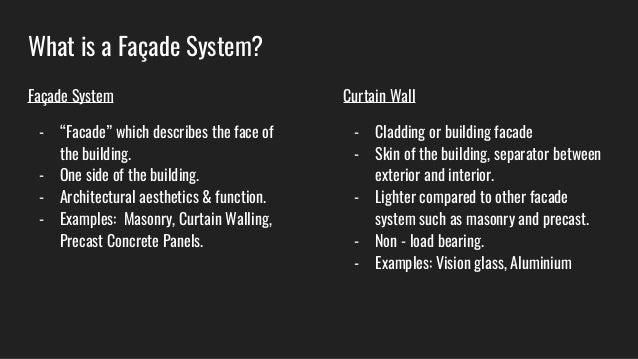 curtain wall presentation slides