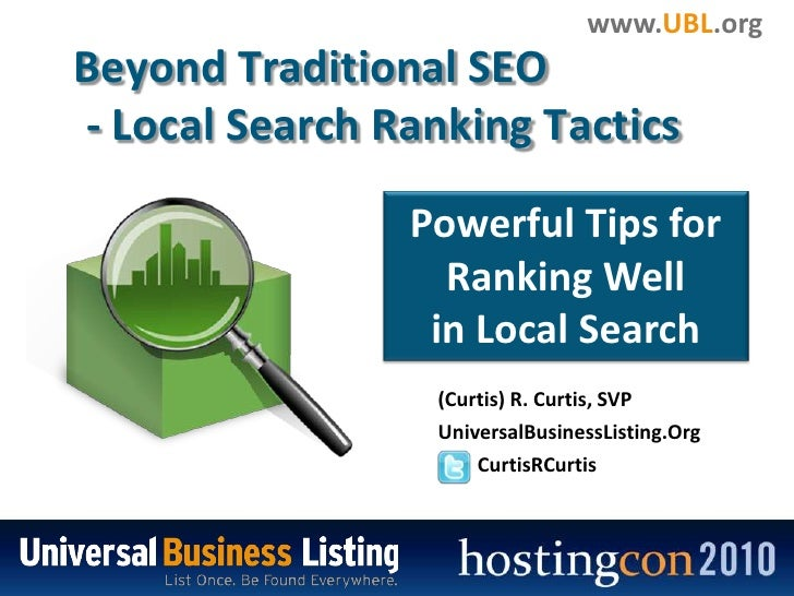 Beyond Traditional SEO<br />- Local Search Ranking Tactics<br />Powerful Tips for Ranking Well <br />in Local Search<br /...