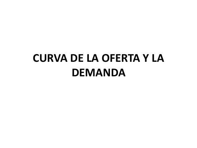 CURVA DE LA OFERTA Y LA DEMANDA