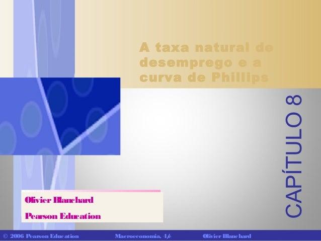 CAPÍTULO 8  A taxa natural de desemprego e a curva de Phillips  Olivier Blanchard Pearson Education © 2006 Pearson Educati...