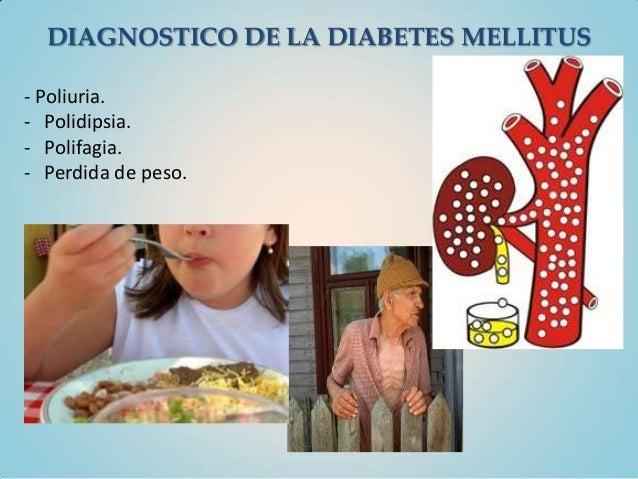 DIAGNOSTICO DE LA DIABETES MELLITUS- Poliuria.- Polidipsia.- Polifagia.- Perdida de peso.
