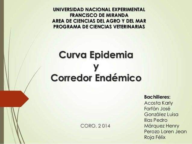 Curva epidemia y Corredor endémico.