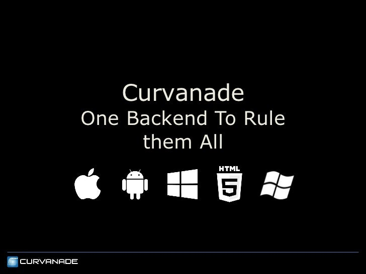 CurvanadeOne Backend To Rule     them All