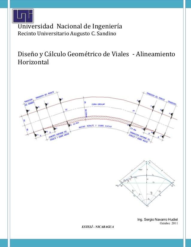 UniversidadNacionaldeIngeniería RecintoUniversitarioAugustoC.Sandino  DiseñoyCálculoGeométricodeViales-...