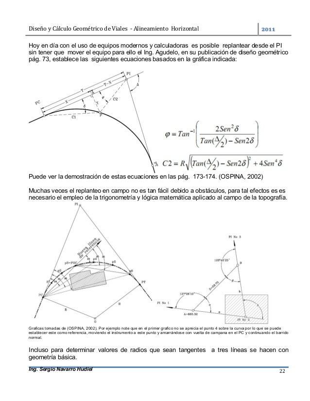 DiseñoyCálculoGeométricodeViales-AlineamientoHorizontal  Ing. Sergio Navarro Hudiel 22 Hoy en día con el uso ...