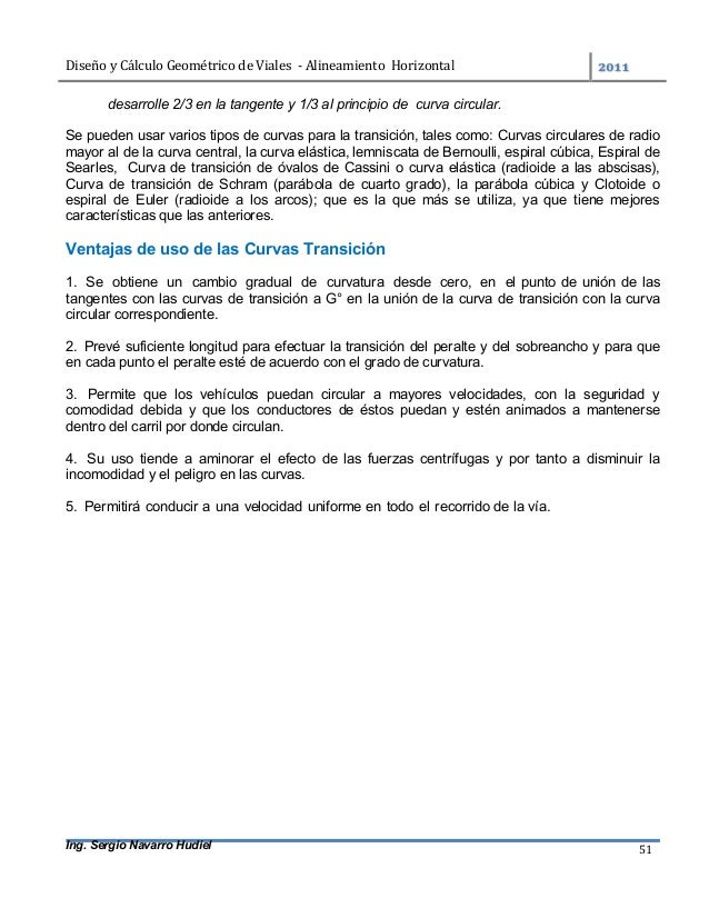 DiseñoyCálculoGeométricodeViales-AlineamientoHorizontal  Ing. Sergio Navarro Hudiel 51 desarrolle 2/3 en la t...