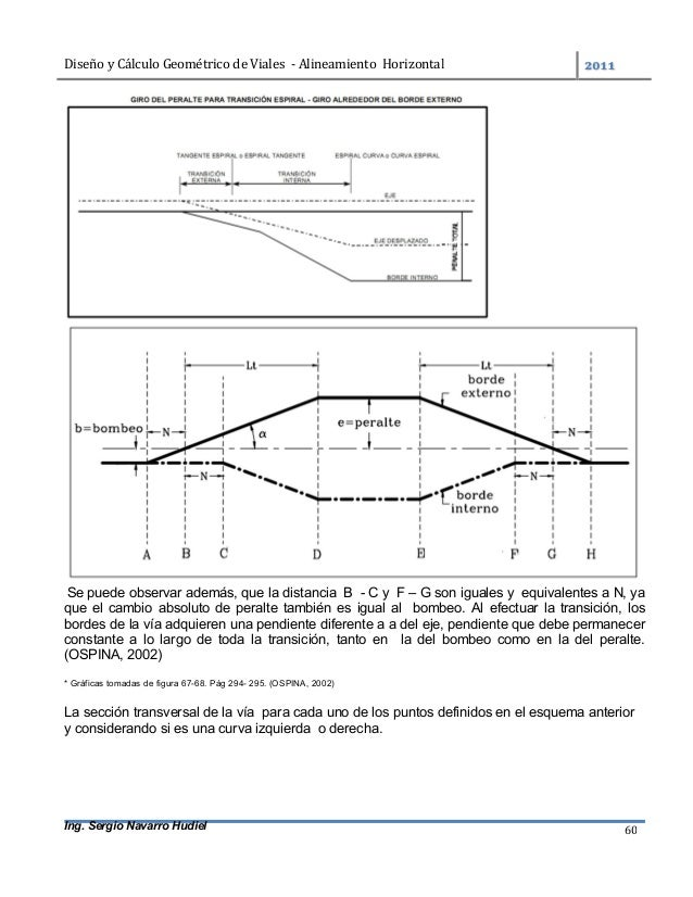 DiseñoyCálculoGeométricodeViales-AlineamientoHorizontal  Ing. Sergio Navarro Hudiel 60 Se puede observar adem...