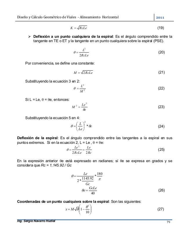 DiseñoyCálculoGeométricodeViales-AlineamientoHorizontal  Ing. Sergio Navarro Hudiel 79 RcLeK  (19)  Deflexi...