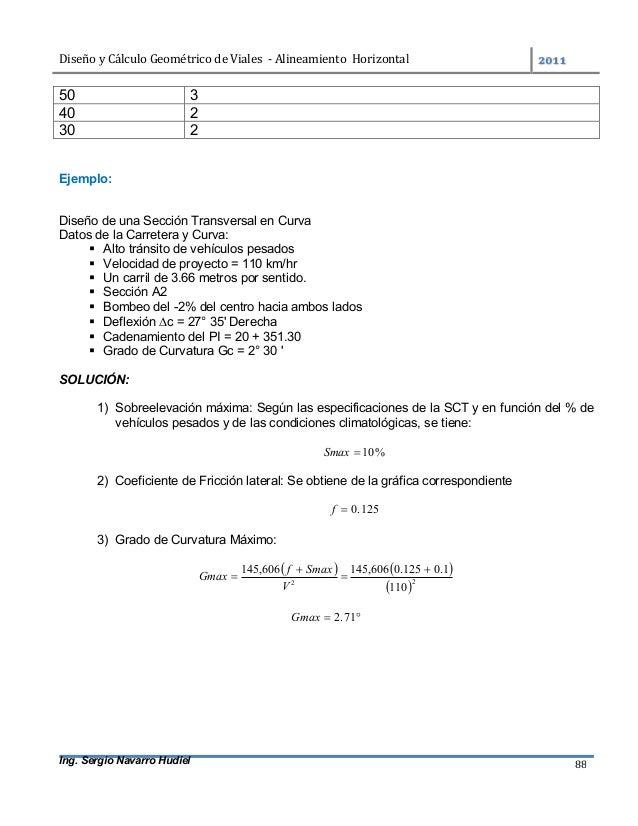 DiseñoyCálculoGeométricodeViales-AlineamientoHorizontal  Ing. Sergio Navarro Hudiel 88 50 3 40 2 30 2 Ejemplo...