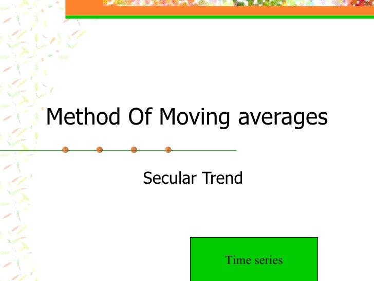 Method Of Moving averages Secular Trend Time series
