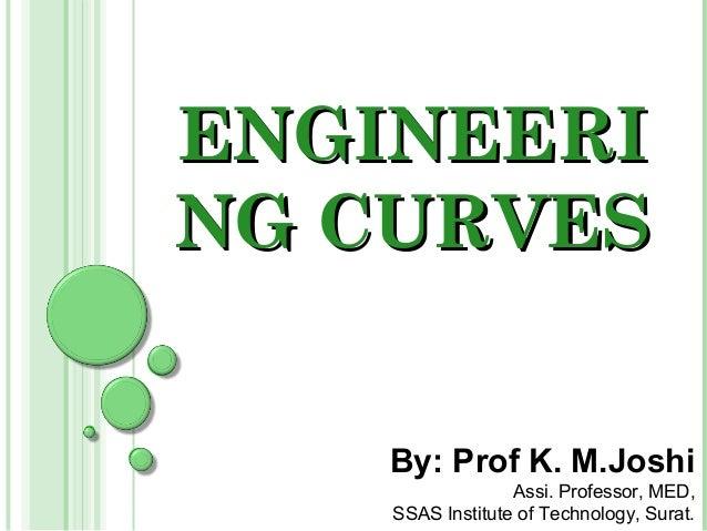 ENGINEERING CURVES    By: Prof K. M.Joshi                  Assi. Professor, MED,    SSAS Institute of Technology, Surat.