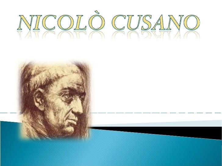 OPERE VITA        Nicolò Cusano                 ASTRONOMIACURIOSITA'
