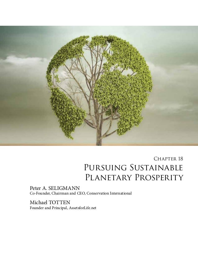 Chapter 18  Pursuing Sustainable Planetary Prosperity Peter A. SELIGMANN  Co-Founder, Chairman and CEO, Conservation Inter...
