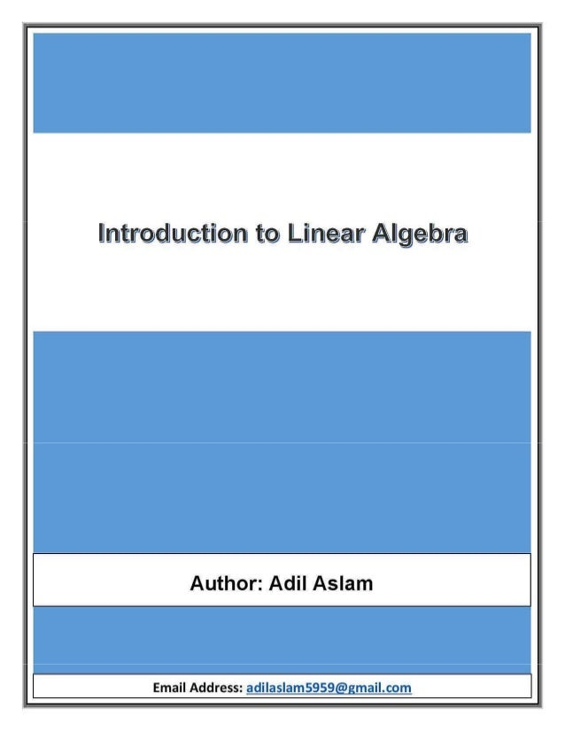 introduction to linear algebra pdf