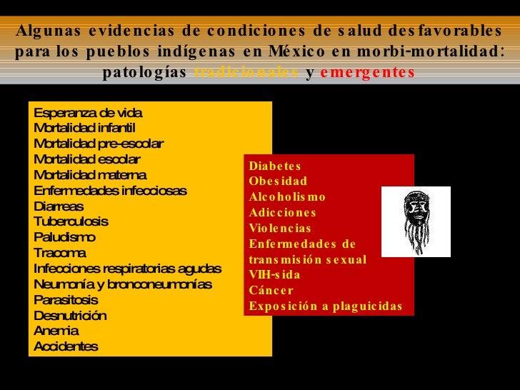Algunas evidencias de condiciones de salud desfavorables para los pueblos indígenas en México en morbi-mortalidad: patolog...