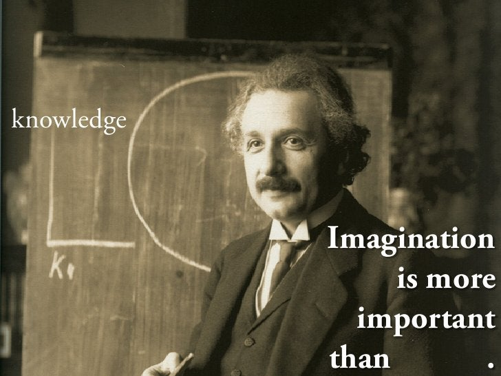 knowledge                Imagination                  is more               important             than       .