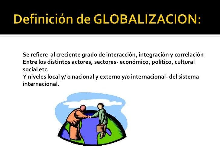 Globalizacion for Definicion de gastronomia pdf