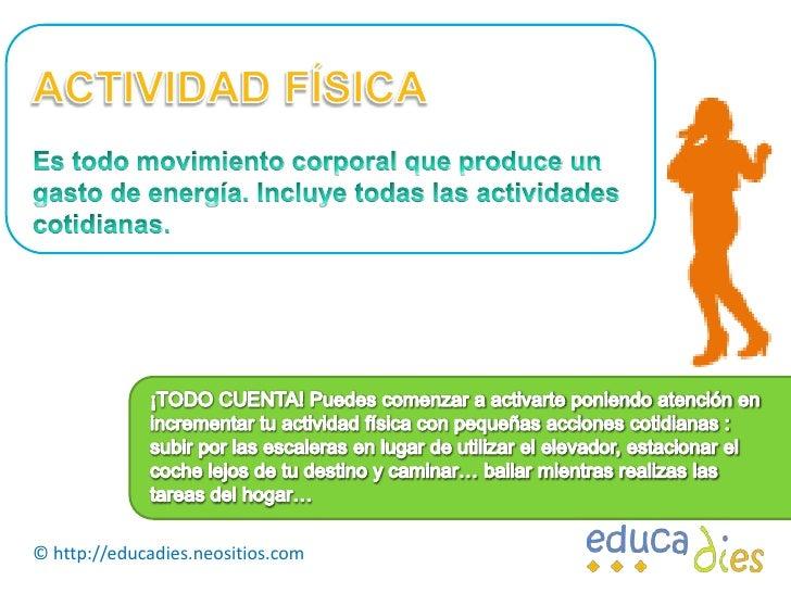 EJERCICIO Y ACTIVIDAD FÍSICA Slide 2