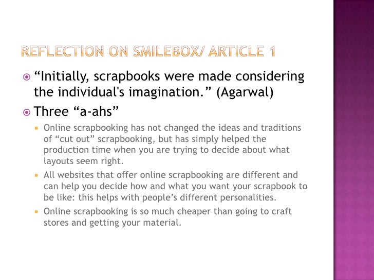 Online Scrapbooking Presentation