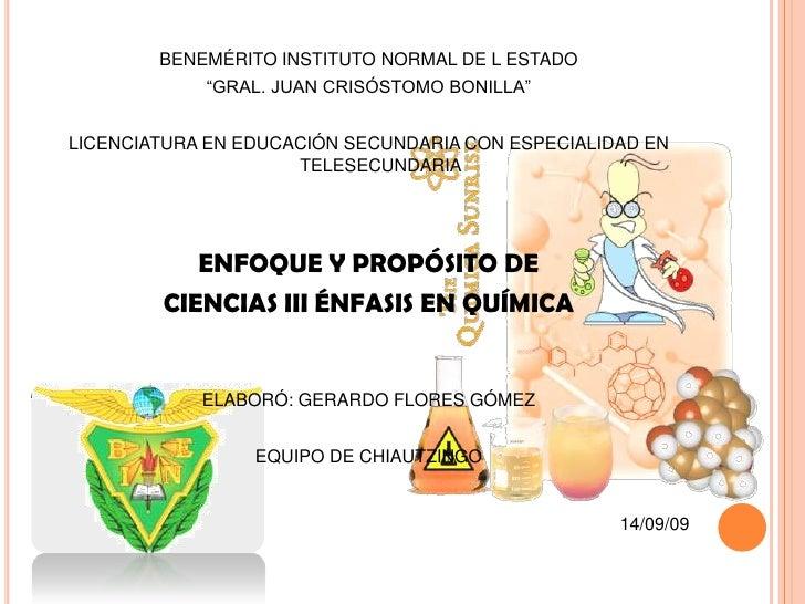 """BENEMÉRITO INSTITUTO NORMAL DE L ESTADO<br />""""GRAL. JUAN CRISÓSTOMO BONILLA""""<br />LICENCIATURA EN EDUCACIÓN SECUNDARIA CON..."""