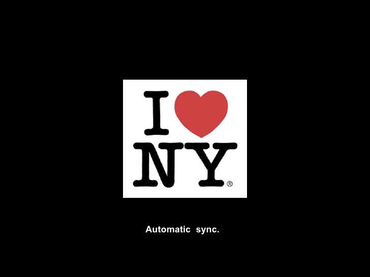 Automatic  sync.