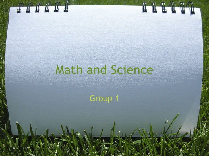 Math and Science Group 1