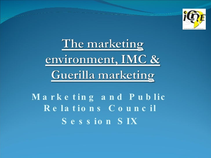 Marketing and Public Relations Council Session SIX