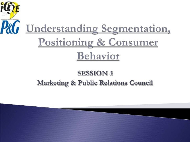 SESSION 3 Marketing & Public Relations Council